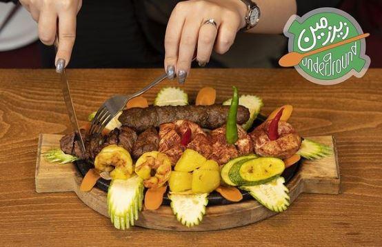 رستوران ایرانی و فرنگی زیرزمین