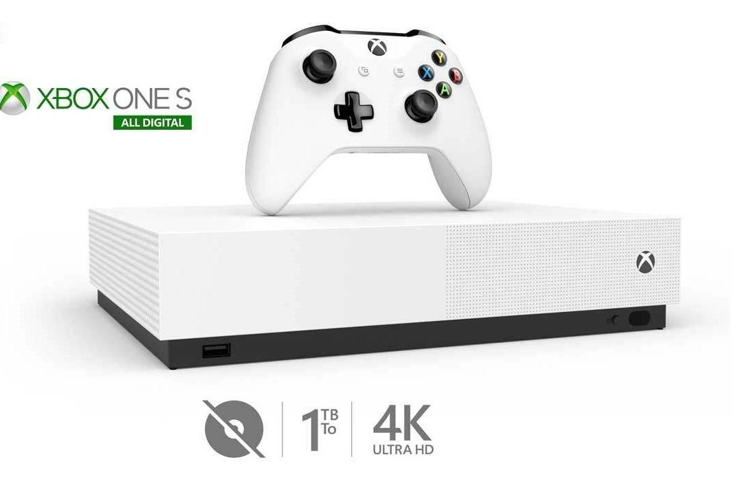 کنسول بازی مایکروسافت مدل Xbox One S ALL DIGITAL ظرفیت 1 ترابایت  c--