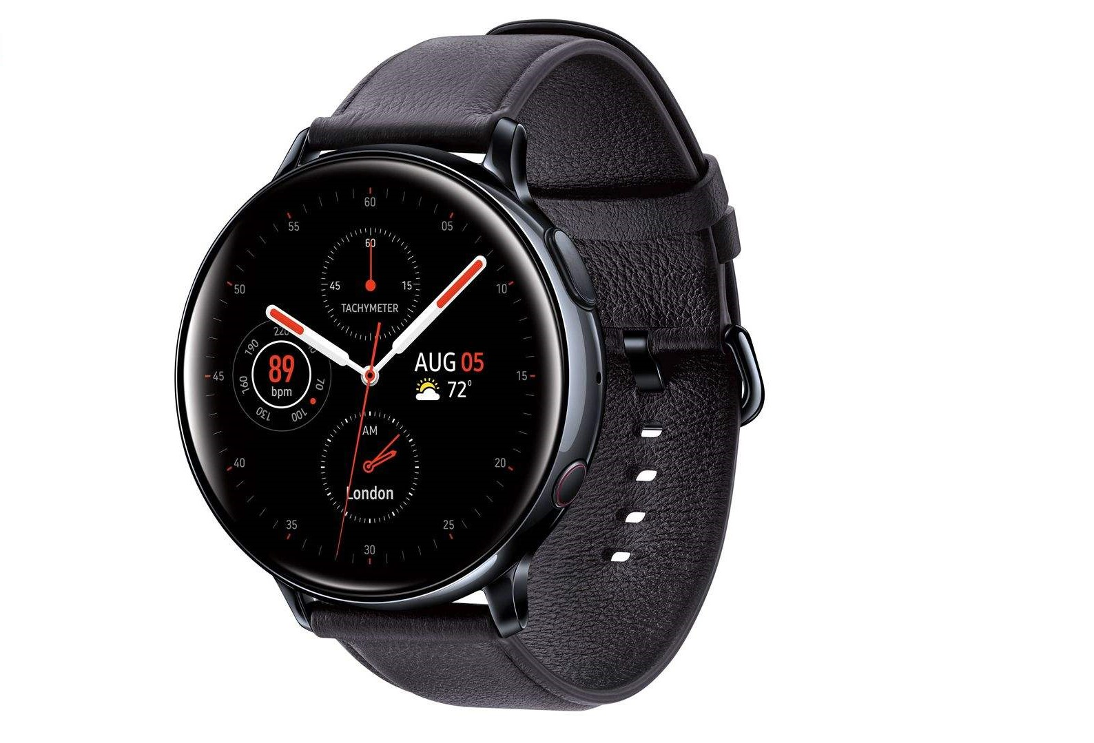 Samsung Galaxy Watch Active2 44mm Leatherband Smart Watch